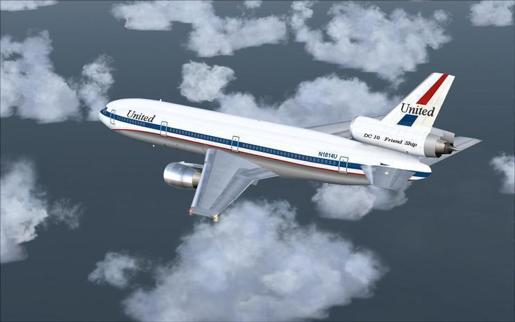 FSX United Airlines McDonnell Douglas DC-10