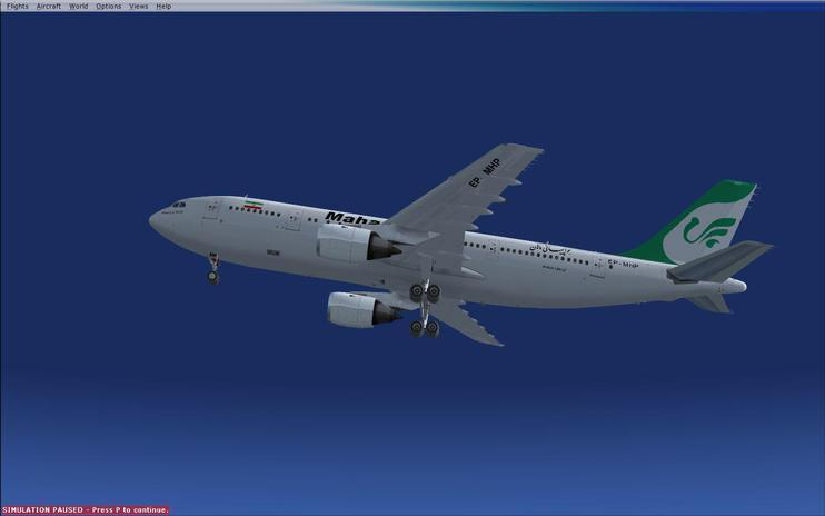 FSX texture airbus a300-600 and a300-b4 and a300-b2 Mahan Air Thomas Ruth