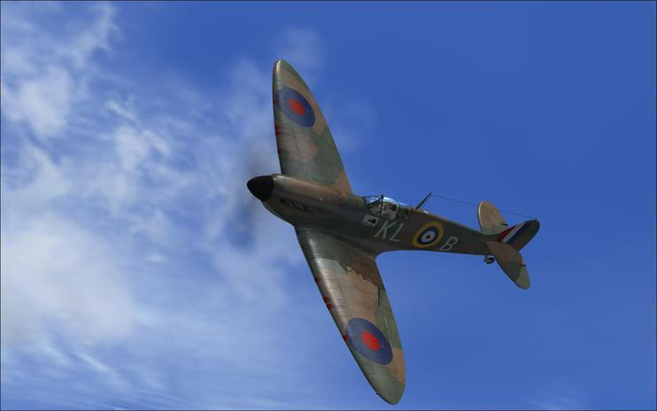 FSX P9390 for A2A Wings of Power 3 Spitfire