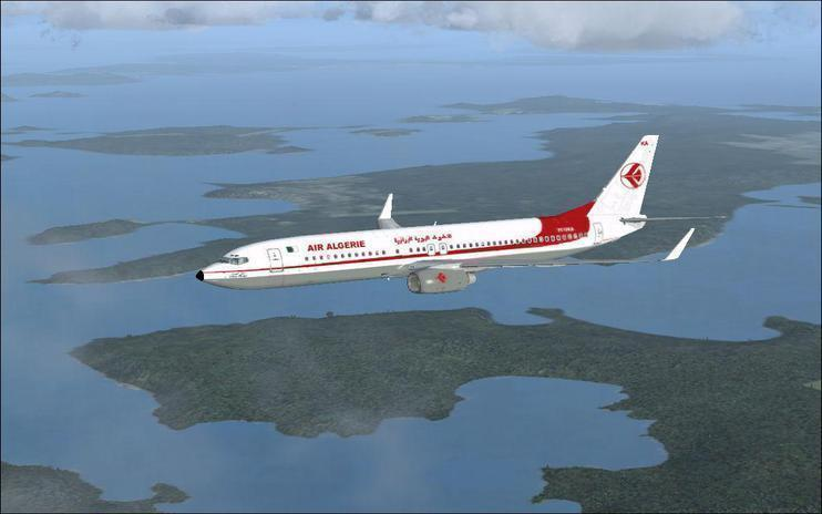 FSX 737-800 Winglet Air Algerie 7T-VKA Monts Chabour