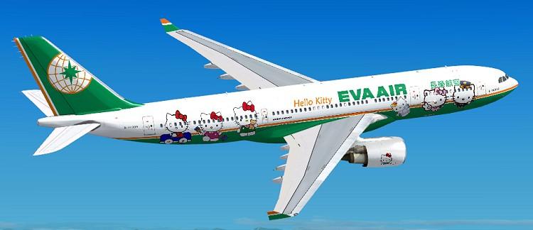 FSX EVA Air Airbus A330-200 by Jon Murchison / FSX Add-ons
