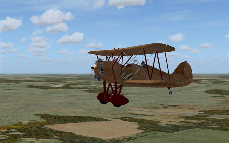 FSX FSX Golden Age Simulations WACO RNF Wooden Special Texture