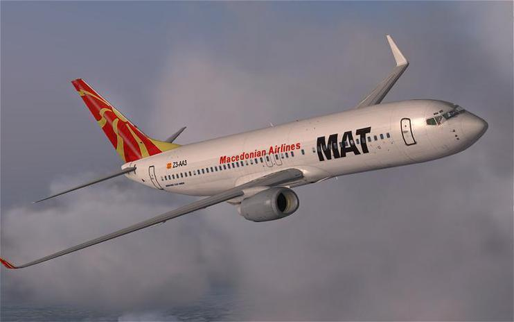 FSX Macedonian Airlines Boeing 737-800