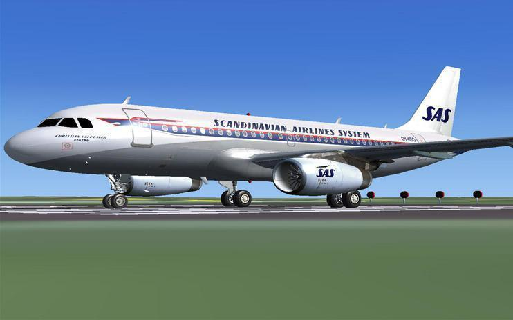 FSX Scandinavian Airlines Airbus A319 (Retro