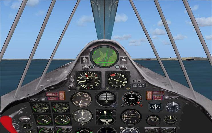 FSX Panel Convair XF2Y-1 Sea Dart.
