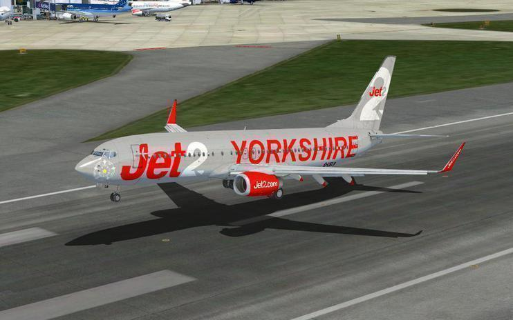 FSX Boeing 737-800 Jet2 Yorkshire Livery