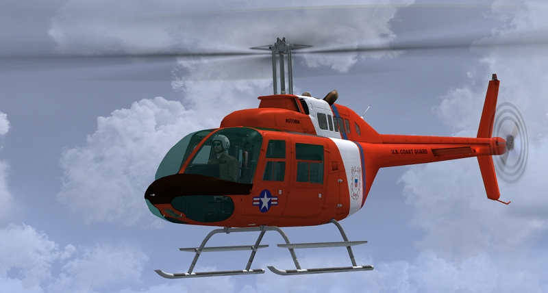 FSX U.S.C.G. repaint of the default Bell 206B
