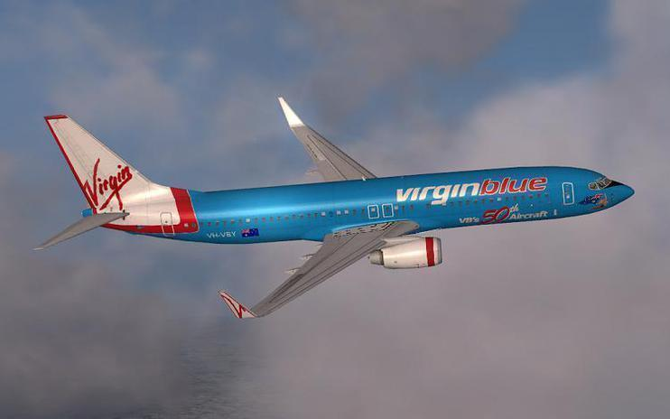FSX Virgin Blue 50th Boeing 737-800