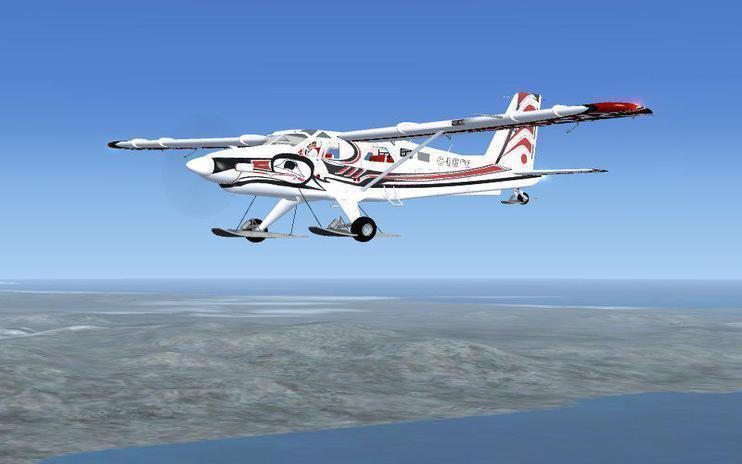 FSX De Havilland DHC2 - MkIII Turbo Beaver Ski Version