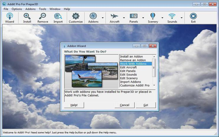 FSX Prepar3D Addit! Pro Add-on Manager V8.1.1