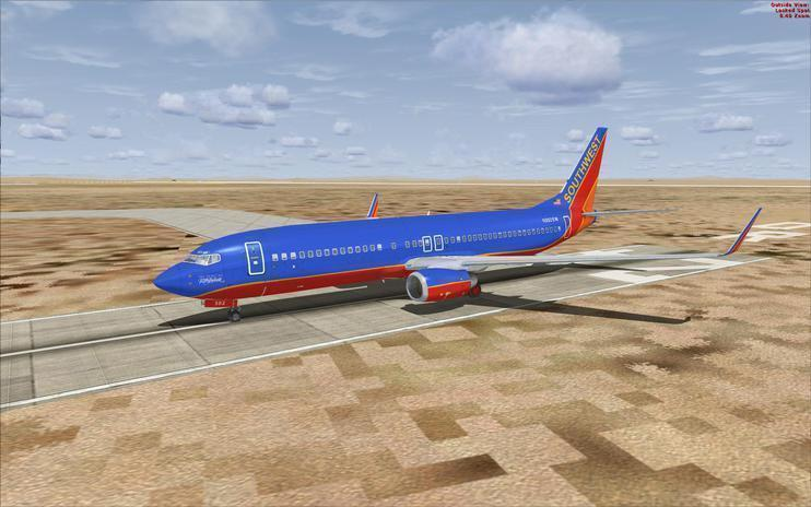 FSX Southwest 'Gold' & 'Blue' Boeing 737-800