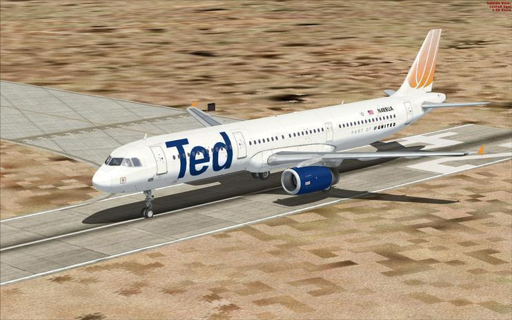 FSX TED (United Airbus A321