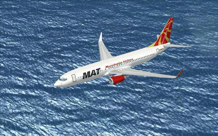 FSX Macedonian Airlines 'NEW' Boeing 737-800