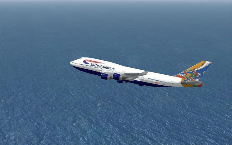 FSX British Airways 'World Tails' Boeing 747-400 (G-BOAE