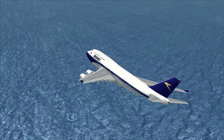 FSX British Overseas Airways Boeing 747-400 (G-BOAC