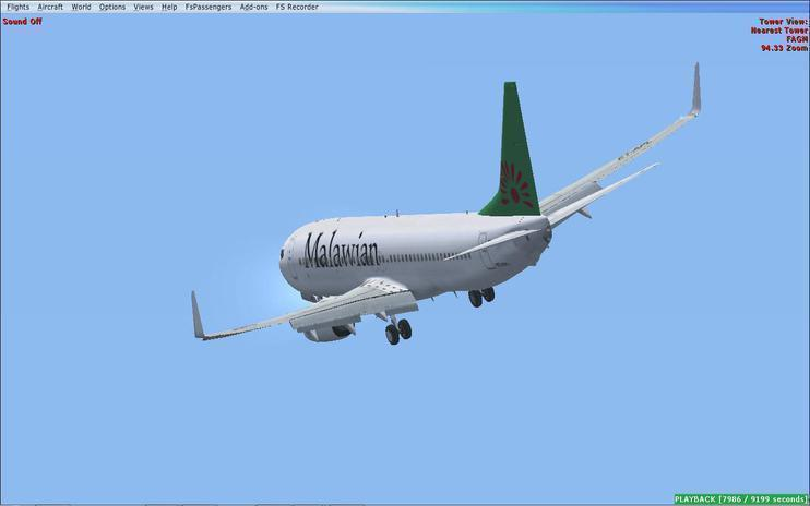 FSX iFly 737-800NG Malawian Airlines
