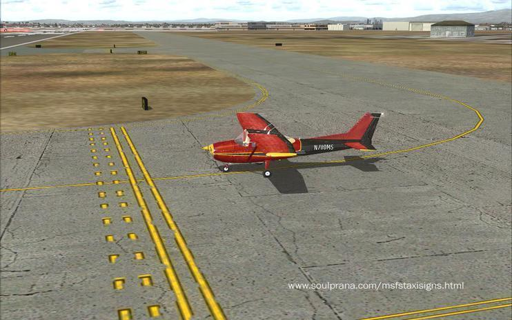 FSX Weathered Taxiway lines and Airport signs - V 1.0