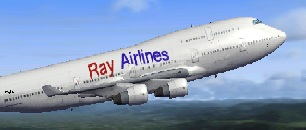 FSX Boeing 747-400 Ray Airlines