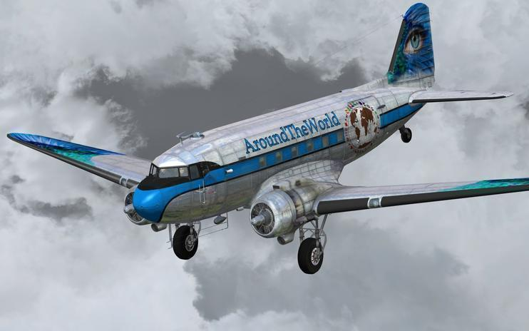 FSX Douglas C-47 Skytrain Around The World 2014
