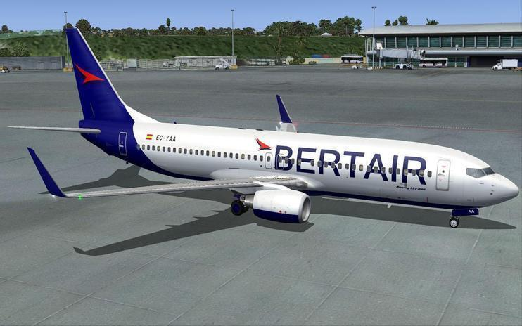 FS2004 Bertair Virtual Airlines Boeing 737-800