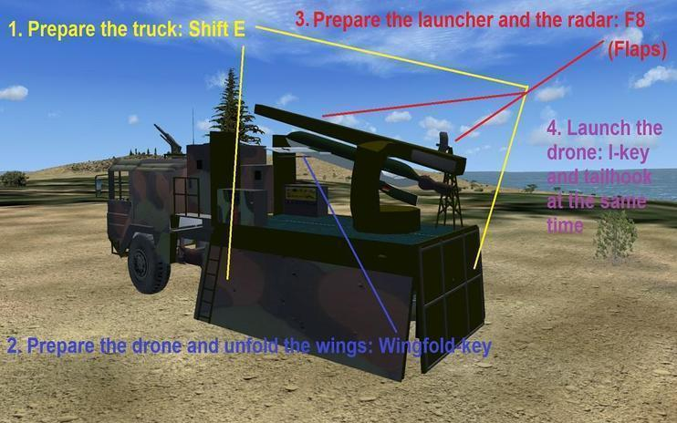 FS2004/FSX German Truck With Drone Launcher