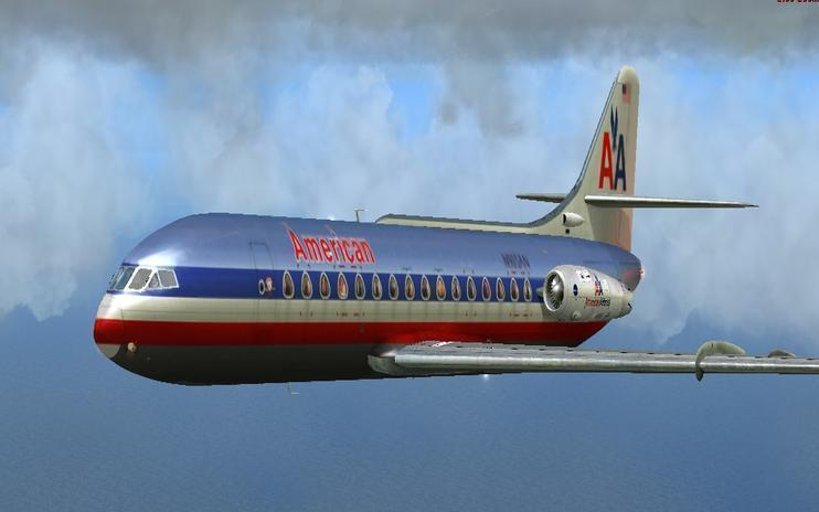 FS2004/FSX American Airlines Caravelle