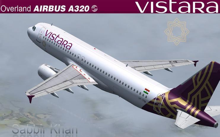 FS2004/FSX Air Vistara Airbus A320-200