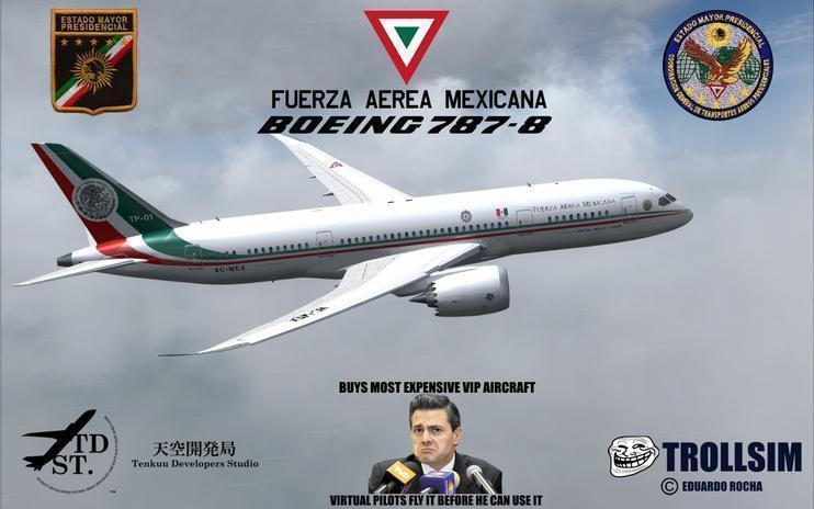 FS2004/FSX Mexican Air Force Presidential VIP 787-8