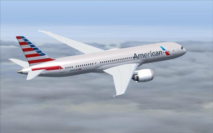 FS2004 American Airlines Boeing 787-8