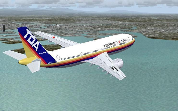 FS2004 Toa Domestic Airlines Airbus A300B4-2C