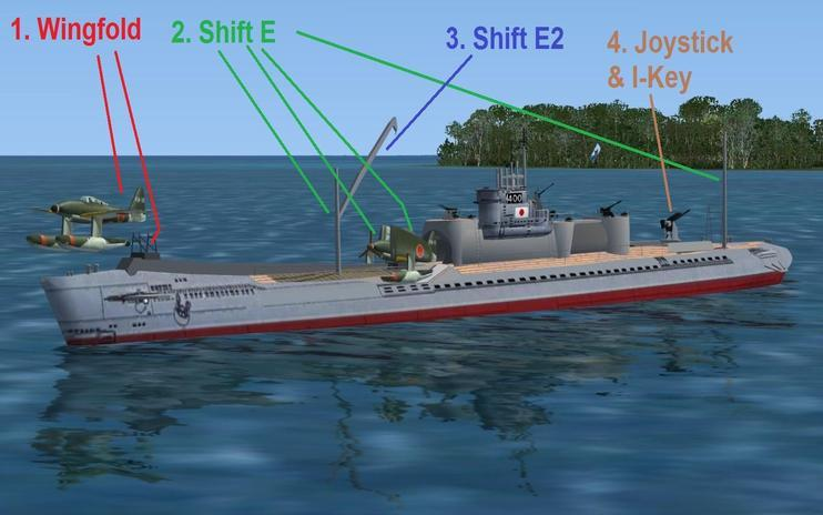 FS2004/FSX IJN Submarine Aircraft Carrier I-400