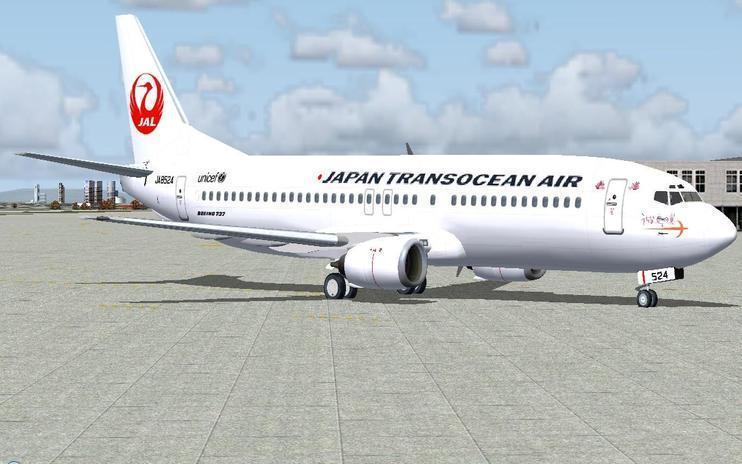 FS2004 Japan Transocean Air Boeing 737-400