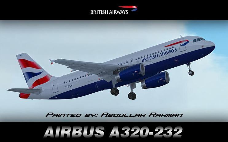 FS2004/FSX British Airways Airbus A320-232