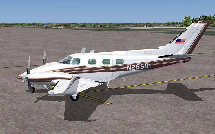 FS2004 Beechcraft Duke BE60 N265D