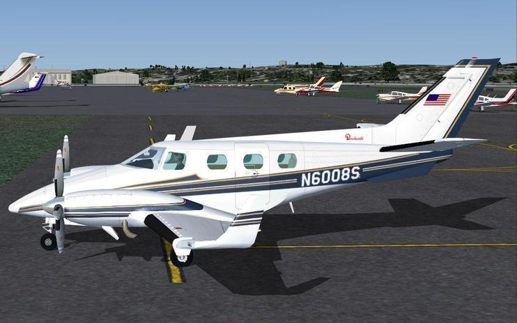 FS2004 Beechcraft Duke BE60 N6008S