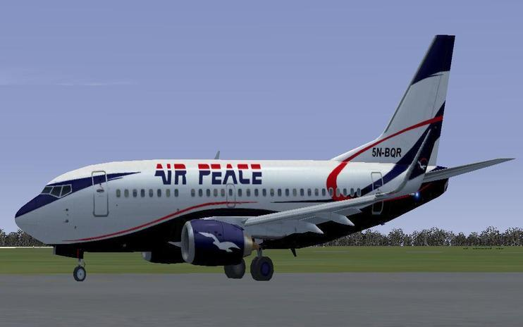 FS2004/FSX Air Peace Boeing 737-500W