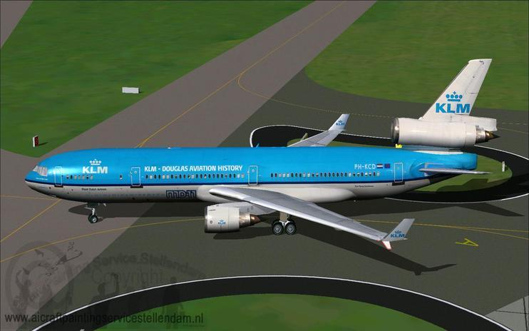 FS2004 KLM McDonnell Douglas MD-11 With Farewell Titles