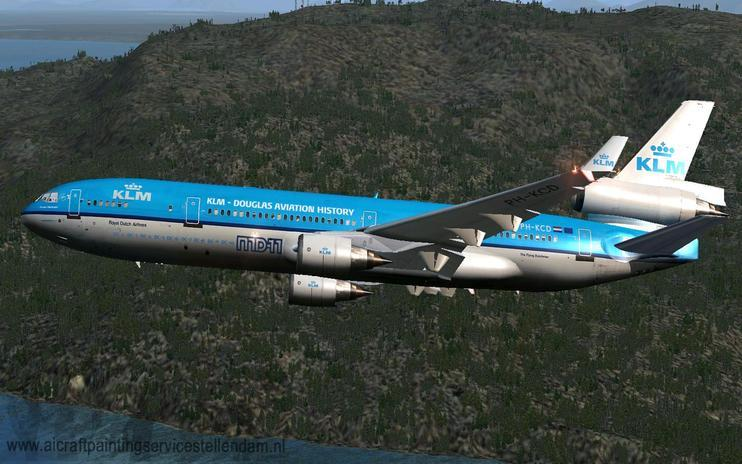 FSX KLM McDonnell Douglas MD-11 With Farewell Titles