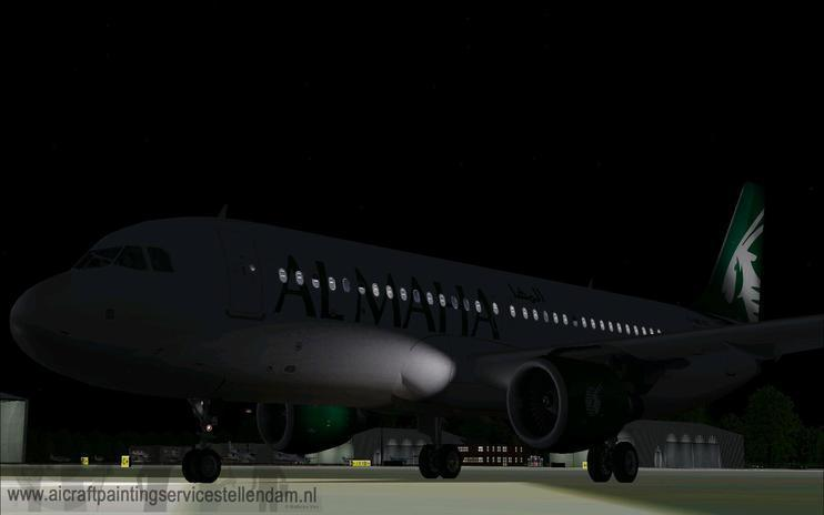 FS2004/FSX Al Maha Airways Airbus A320-200