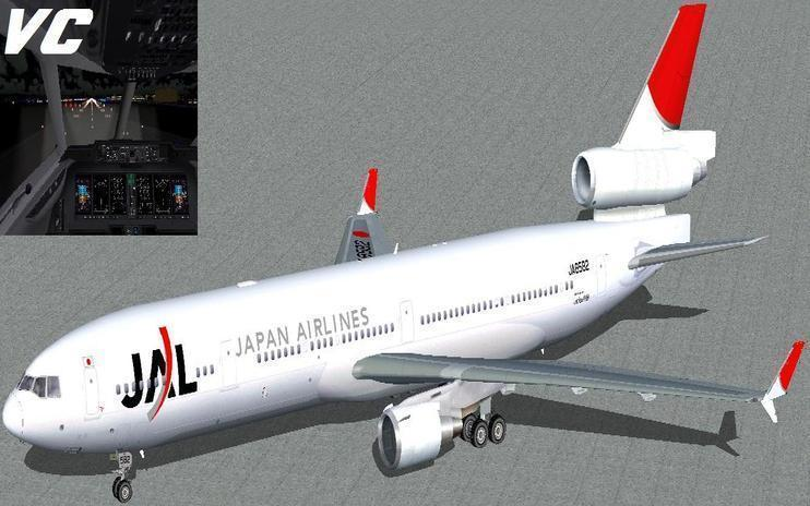 FS2004 Japan Airlines McDonnell Douglas MD-11