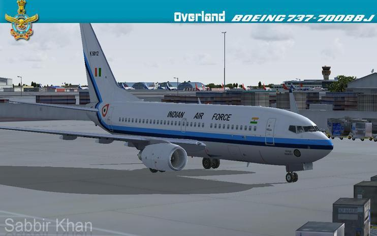 FS2004/FSX Indian Air force Boeing 737-700BBJ