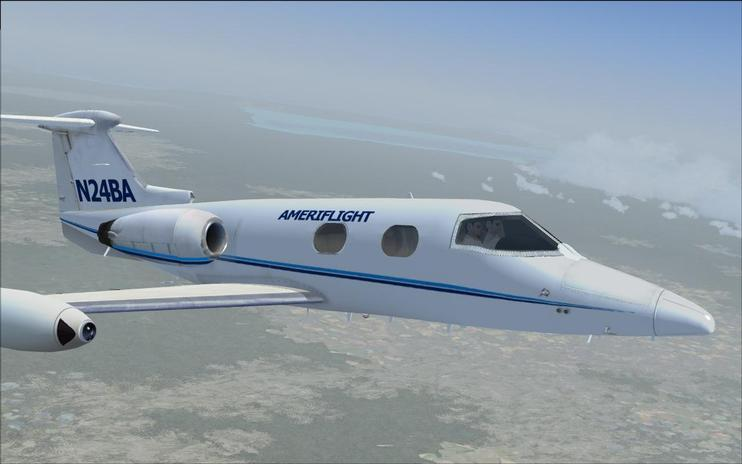 FSX Ameriflight Learjet 23