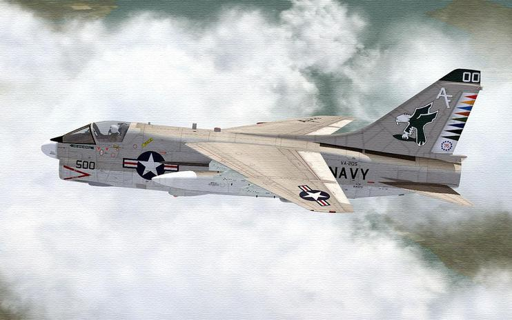 FSX US Navy A-7 Corsair In CAG Colors