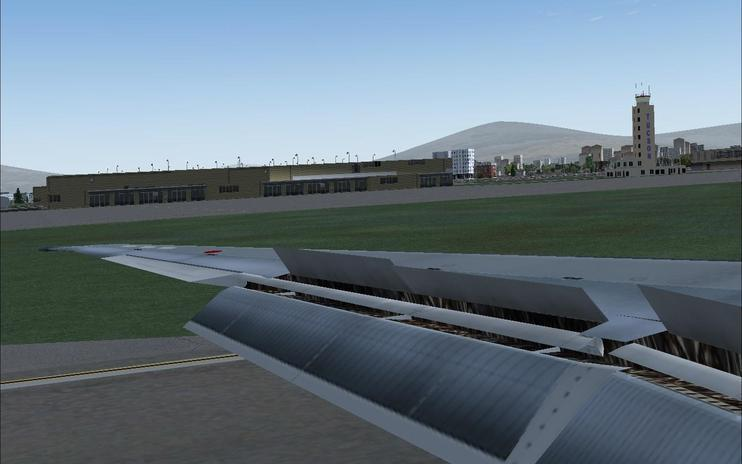 FS2004 SGA MD-8X Passenger Wing View