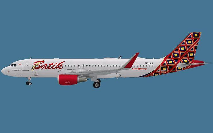 FS2004 Batik Air Airbus A320S by Achmad Aswandana / FSX Add-ons