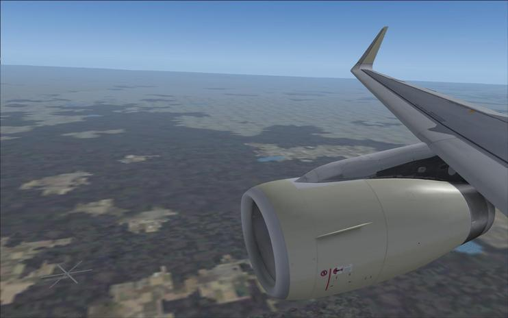 FS2004 Project Airbus A320 Sharklet Wing View