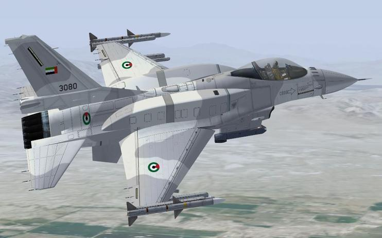 FSX UAE F-16C Fighting Falcon