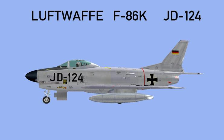 FSX German Air Force North American F-86D (K)