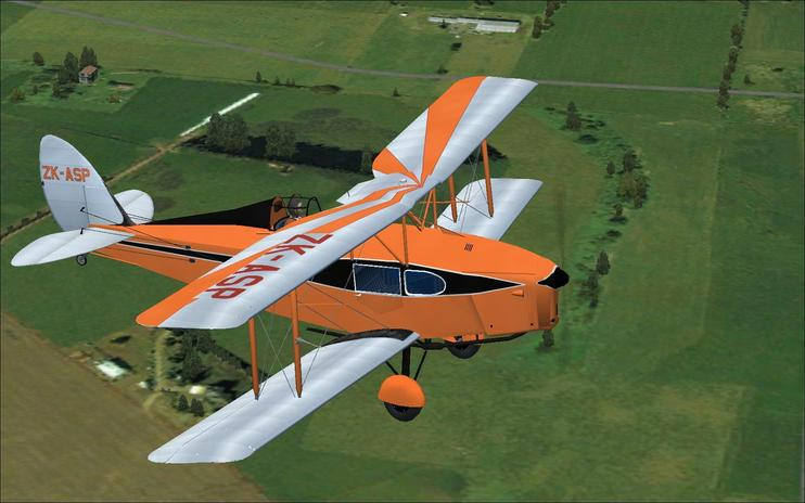 FS2004 DeHavilland Fox Moth ZK-ASP