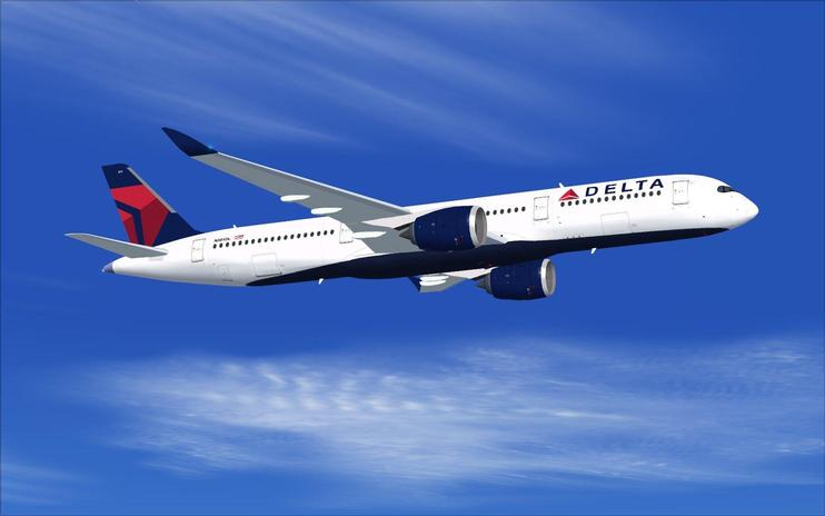FS2004 Delta Airlines Airbus A350-900